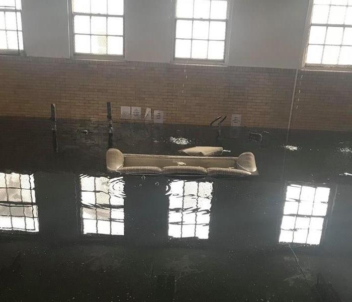 Flooded Basement In Commercial Property: SERVPRO Of Hazleton / Dallas / Harvey's Lake